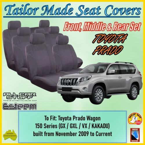 2009-Current SEAT COVER fits TOYOTA PRADO 150 SERIES FRONT WATERPROOF