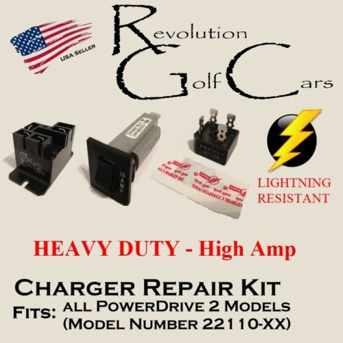 Battery Charger Repair Kit, For Club Car 48 Volt (PowerDrive2 #22110) <br/> Heavy Duty Lightning and Surge Resistant