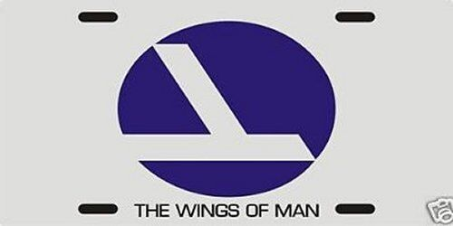 """Eastern Airlines """"The Wings of Man"""" License plate"""
