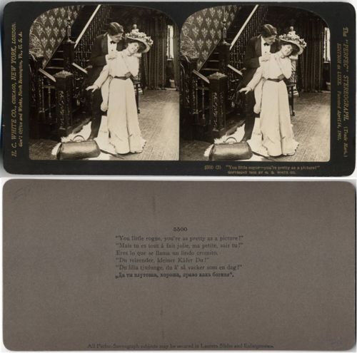 YOU LITTLE ROGUE YOURE AS PRETTY AS A PICTURE H C WHITE NEW YORK STEREOVIEW