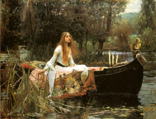 The Lady of Shalott 1888 by John William Waterhouse Art Poster Repro FREE S/H
