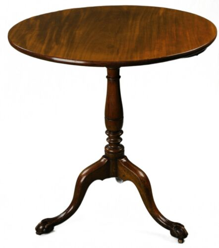 ANTIQUE ENGLISH GEORGE III TILT-TOP TABLE