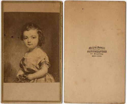 PAINTING OF A LITTLE GIRL NY CDV