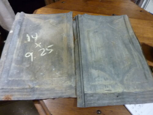 lot of FIVE (5) VICTORIAN tin tile panels MOST likely used on exterior 14 x 9.25