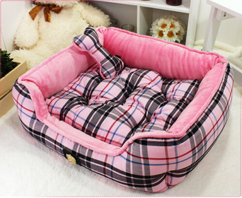 Extra Cute Luxury Plush Pet Puppia Bed/House/Home- Pink&Beige For Cozy Dog/Cat