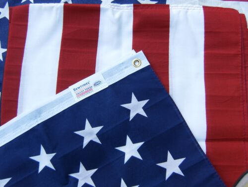 Valley Forge US American Flag 3'x5' PRINTED Poly/Cotton 100% Made in the USA