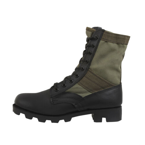 Jungle Boots Olive Drab Leather Military Rothco 5080