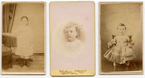 YOUNG CHILDREN SET OF 6 CDVS, TRAVELING ARTIST, ALLENTOWN, EASTON, PHILLY, PA