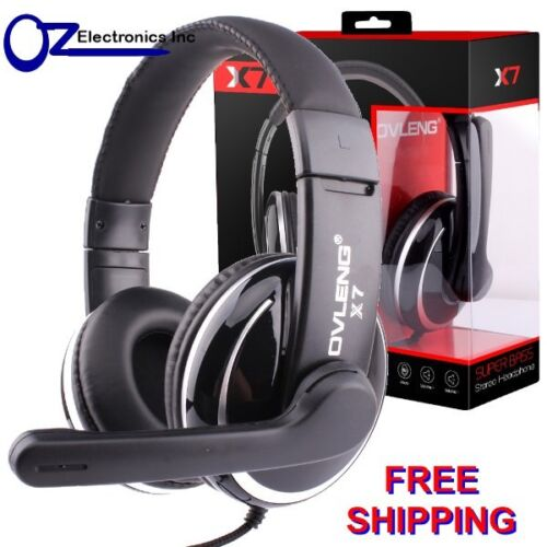 Headset Headphone Microphone for PC MAC SKYPE BRAND NEW SILVER Live 3.5mm plug