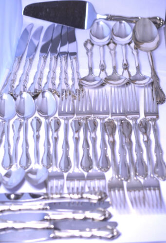 SET OF 36 VTG TOWLE STERLING SILVER FLATWARE & SERVING PIECES IN FONTANA PATTERN