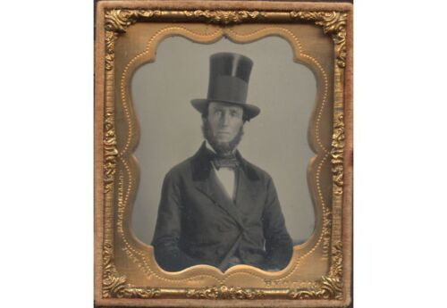 ABE LINCOLN DOPPLEGANGER/LOOK ALIKE WITH TOP HAT IN UNION CASE