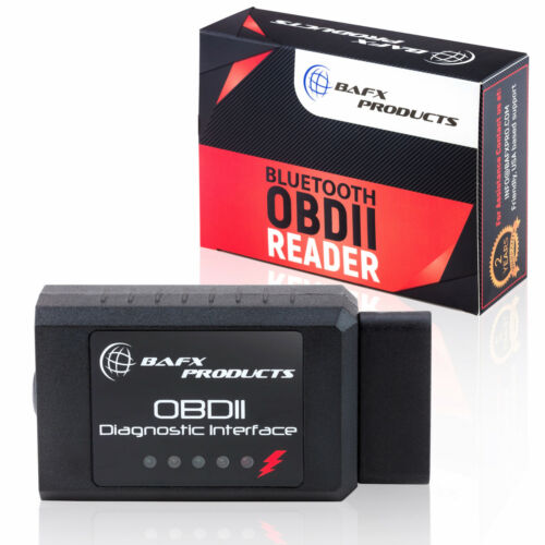 BAFX Products - Bluetooth OBD2 OBDII Car Diagnostic Code Reader Scanner Tool <br/> BAFX Products Authorized Retailer