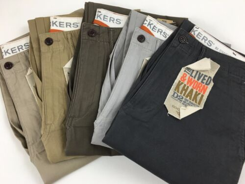 DOCKERS LEVI'S GENUINE LIVED & WORN KHAKI CHINOS D2 STRAIGHT LEG PANTS/TROUSERS
