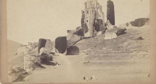 CDV OF CORFE CASTLE BUILT IN 11TH CENTURY BY WILLIAM THE CONQUEROR -ORIGINAL