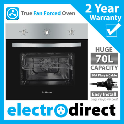 Brilcon 60cm Fan Forced Electric Built-in Wall Oven + 10amp Plug for Powerpoint <br/> $259 with coupon - match for stainless steel appliances