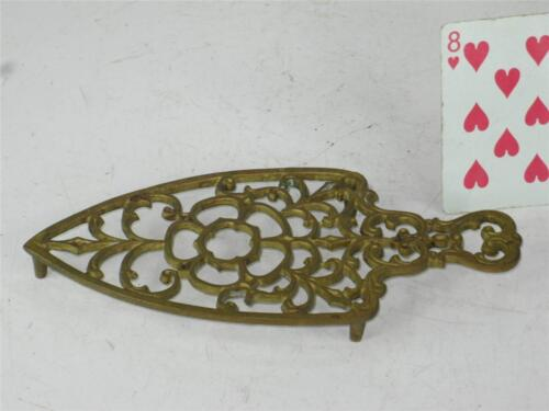 Trivet Brass / Bronze  Rose Pattern Reanactment