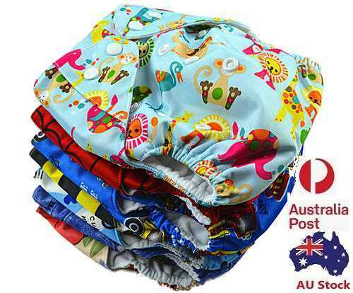 Reusable Washable Baby Cloth Nappy Nappies Diaper Waterproof Surface Free Insert