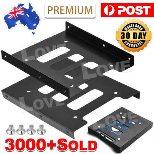 "PC Metal 2.5"" to 3.5"" SSD to HDD Mounting Adapter Bracket Hard Drive Holder"