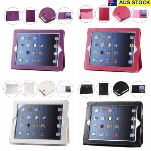 iPad 2 3 4 Case Cover Protector Stand PU Leather 4 Colors (C12,74,50-4,26)