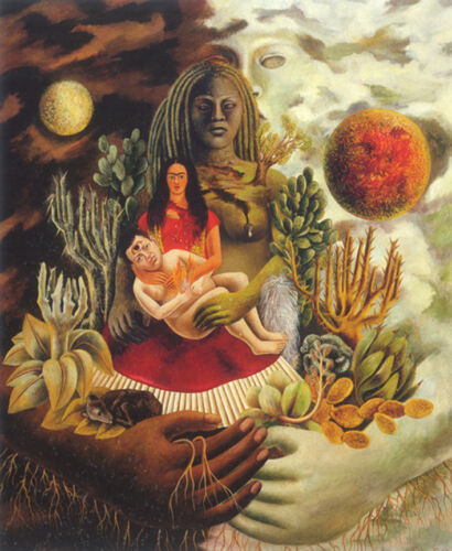 The Love Embrace of the Universe  by Frida Kahlo  Giclee Canvas Print Repro