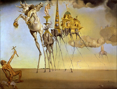 The Temptation of St. Anthony  by Salvador Dali  Giclee Canvas Print  Repro
