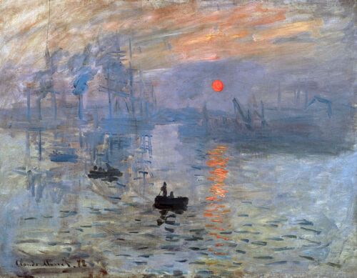 Impression, Sunrise   by Claude Monet  Giclee Canvas Print  Repro