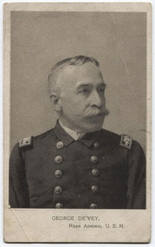 CABINET CARD LITHOGRAPHIC IMAGE REAR ADMIRAL DEWEY. FAIRY SOAP ADVERTISEMENT.