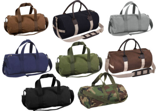 "Tactical Shoulder Bag Camo Sports Canvas Gym Duffle Carry Strap Tote 19"" Rothco"