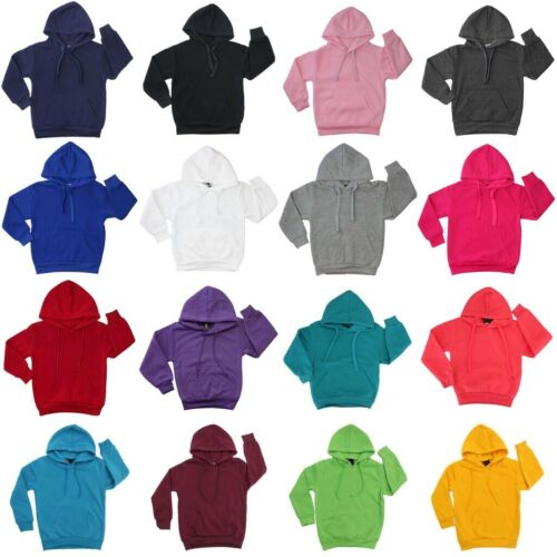 New Kids Hoodie Jumper Pullover Basic  School Uniform Plain Casual Sweatshirt <br/> Fast Shipping From MEL, Embroidery Services Available