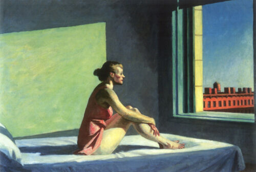 Morning Sun  by Edward Hopper   Giclee Canvas Print Repro