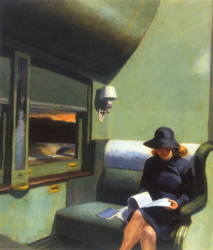 Compartment C, Car 193  by Edward Hopper   Giclee Canvas Print Repro