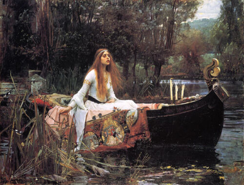 The Lady of Shalott   by John William Waterhouse  Giclee Canvas Print Repro