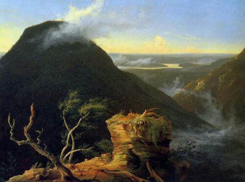 Sunny Morning on the Hudson River  by Thomas Cole  Giclee Canvas Print Repro