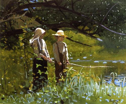 Fishing  by Winslow Homer  Giclee Canvas Print Repro