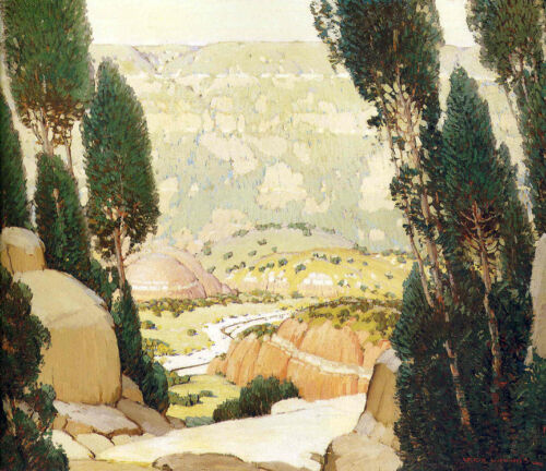 Palo Duro Canyon  by Victor Higgins  Giclee Canvas Print Repro