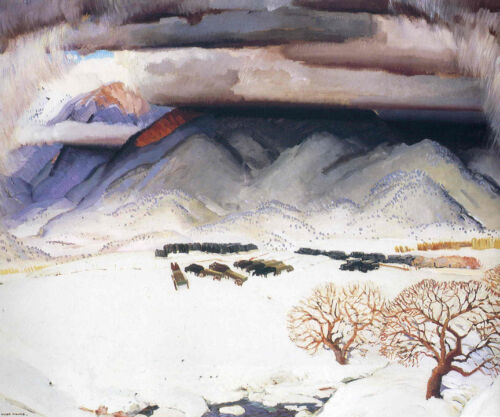 Winter Funeral  by Victor Higgins  Giclee Canvas Print Repro