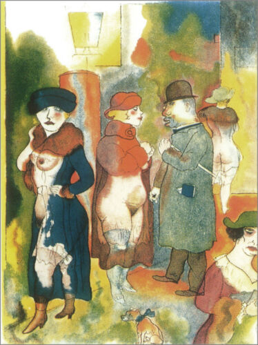 Before Sunrise   by George Grosz  Giclee Canvas Print Repro