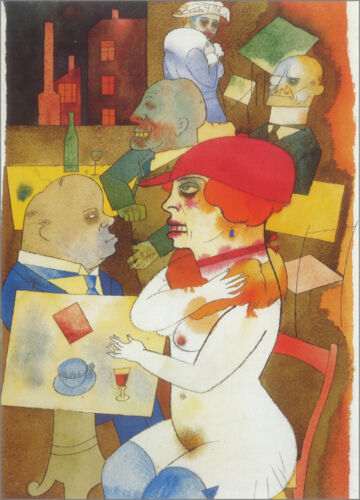 Beauty, Thee I will Praise   by George Grosz  Giclee Canvas Print Repro
