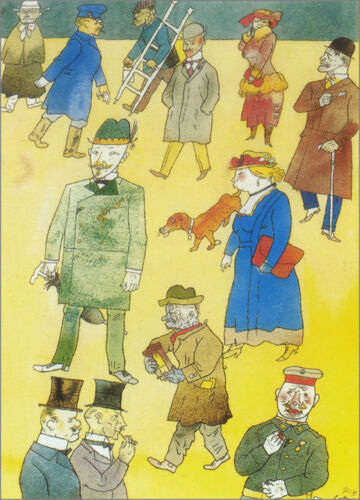 People   by George Grosz  Giclee Canvas Print Repro