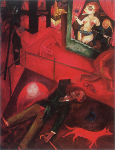 Suicide  by George Grosz  Giclee Canvas Print Repro