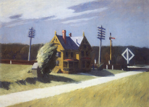 Railroad Crossing  by Edward Hopper   Giclee Canvas Print Repro