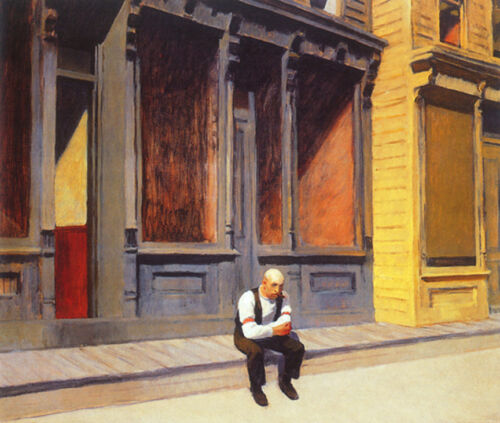 Sunday  by Edward Hopper   Giclee Canvas Print Repro