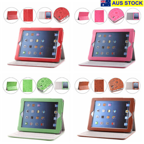 iPad 2, 3 Case Cover Protector with Stand PU Leather 4 Colors NEW (C01)