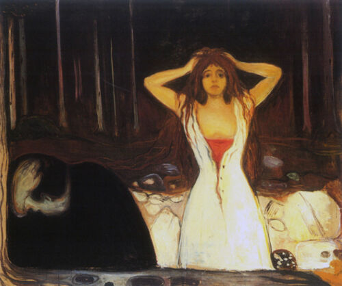 Ashes  by Edvard Munch   Giclee Canvas Print Repro