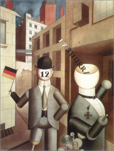 Republican Automatons  by George Grosz  Giclee Canvas Print Repro