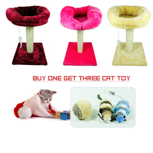 Cat Tree House Toy Bed  With Resting Nest Area  Scratch Post Furniture