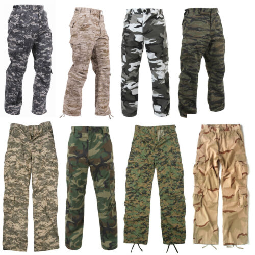BDU Pants Military Camouflage Paratrooper Tactical Fatigue Camo Pants Rothco