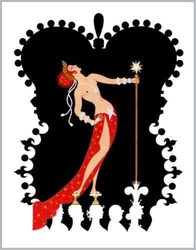 The Seven Deadly Sins, Pride  by Erte  Giclee Canvas Print Repro