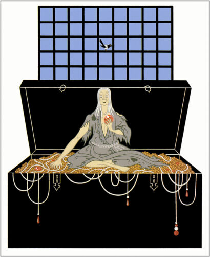 The Seven Deadly Sins, Avarice  by Erte  Giclee Canvas Print Repro