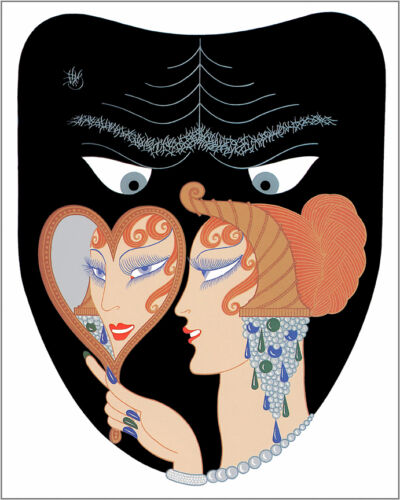 The Seven Deadly Sins, Envy  by Erte  Giclee Canvas Print Repro